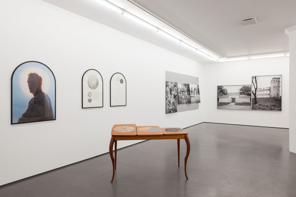 Installation view, Presence of the Past, works by Johan Bergström Hyldahl and Martin Tebus Karlsson