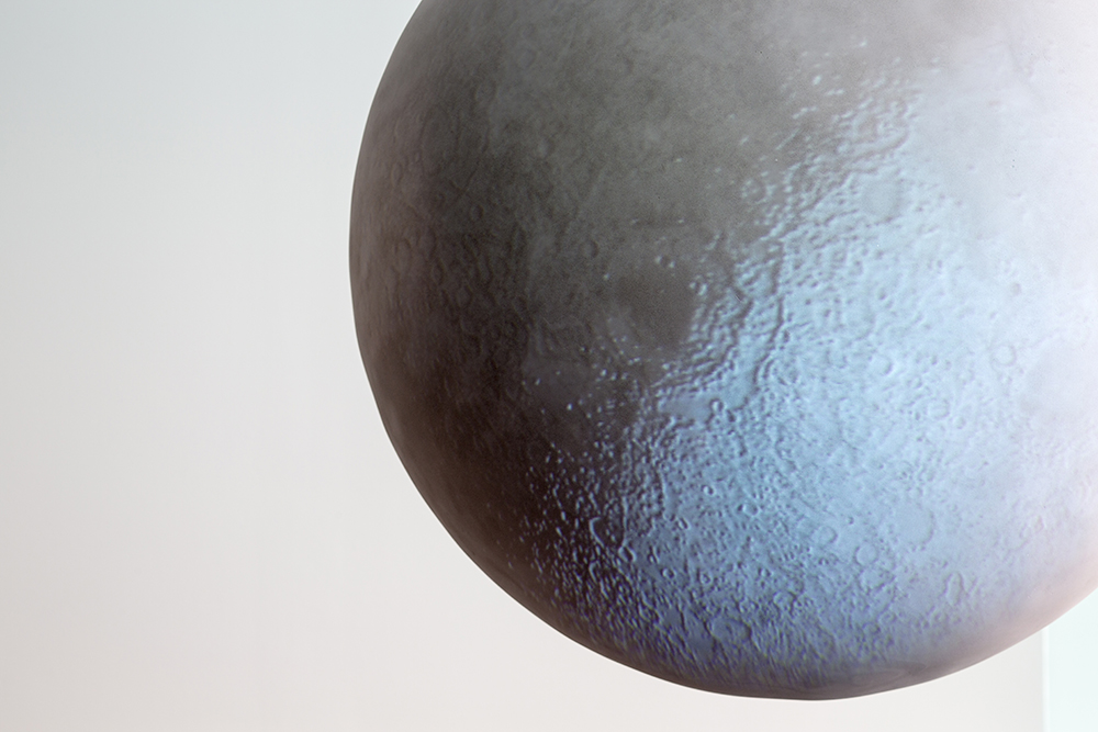 Moon, 2014, video projection on spherical surface, ø 80 cm, 10 min loop, ed 5