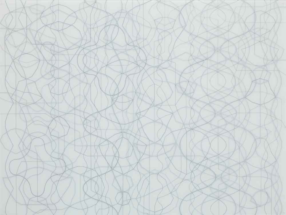 Sonja Larsson, Silver, 2015, oil on acrylic glass, 152 x 203 cm