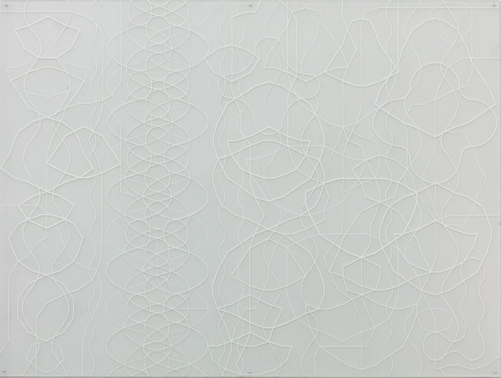 Sonja Larsson, Spiraler, 2015, oil on acrylic glass, 152 x 203 cm