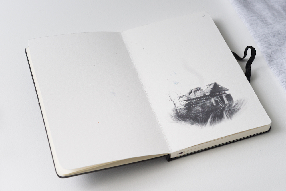 Artifact no 14, from the project New New Hampshire, Notebook (Moleskine, black A5), drawing, detail