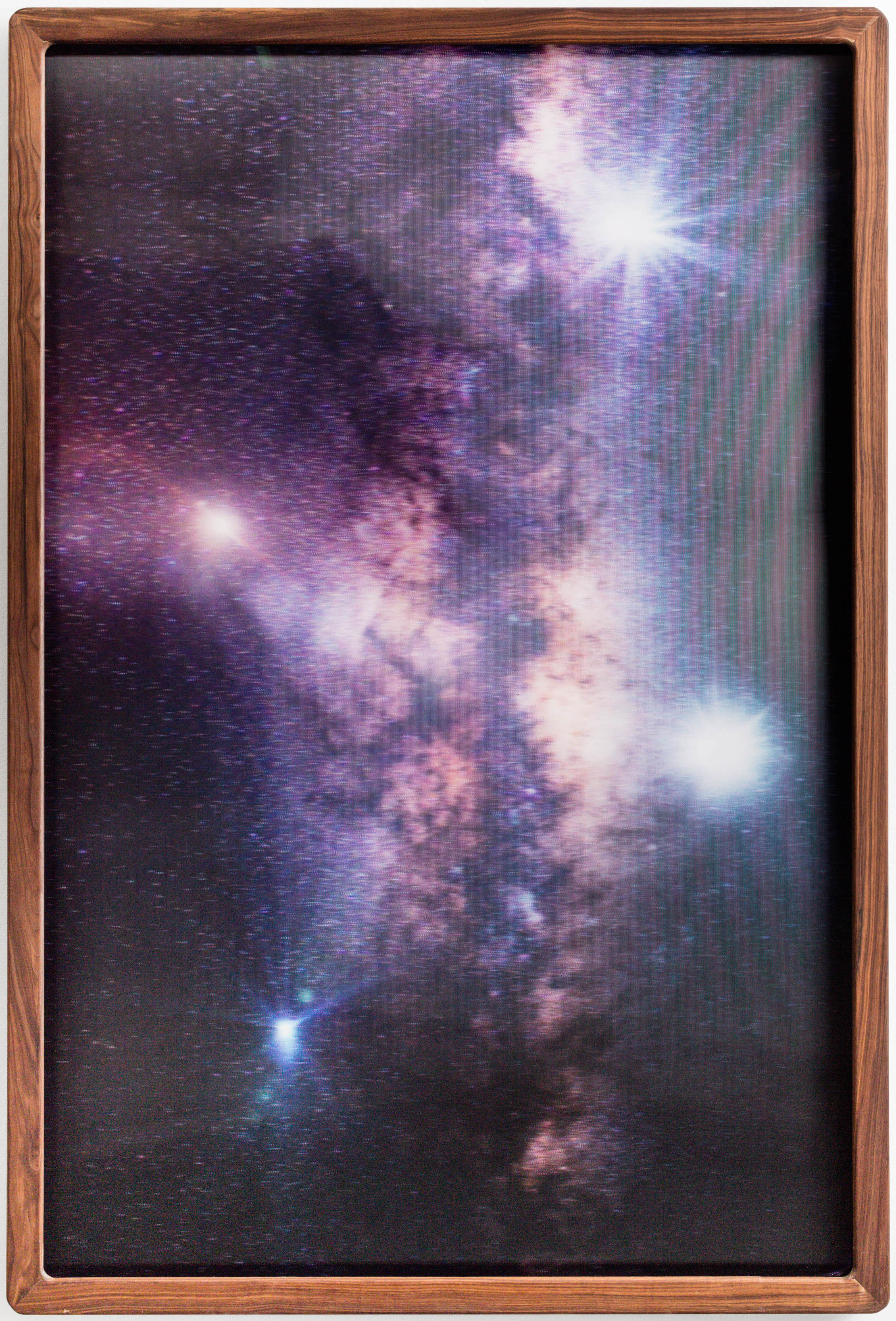 Four Friends, 2018, lenticular print, museum glass, walnut frame, 185 x 125 cm, edition of 2