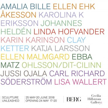 Sculpture Unleashed, group show in collaboration with Berg Gallery, 24 May–20 June 2018