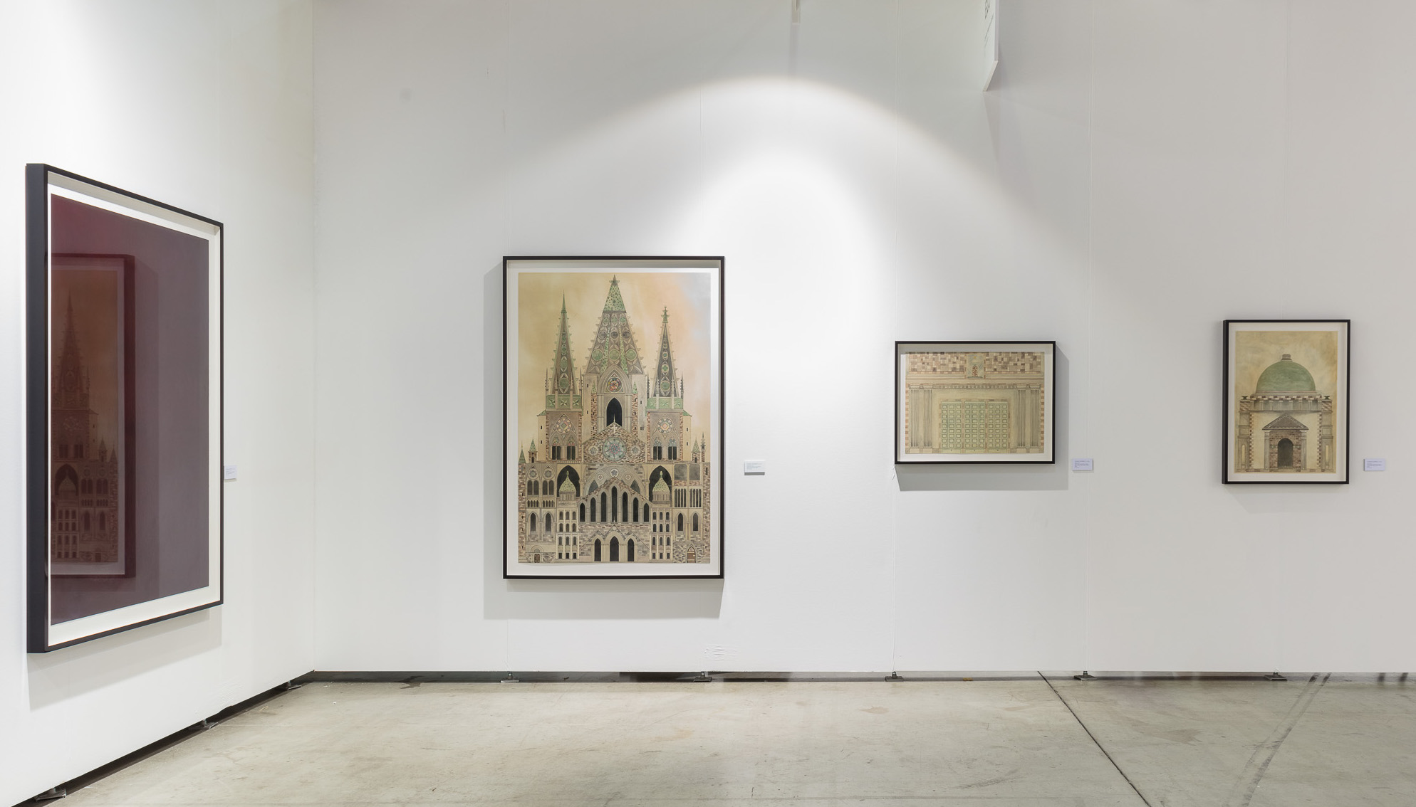 Installation view, duo presentation with Lovisa Ringborg and Fredrik Söderberg, Cecilia Hillström Gallery, viennacontemporary 2018. Photo: kunst.dokumentation.com