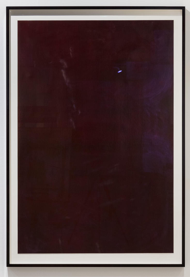 Blood Meridian, 2018, watercolor on paper, frame in lacquered wood, museum glass, 166 x 114 cm. Photo: kunst.dokumentation.com
