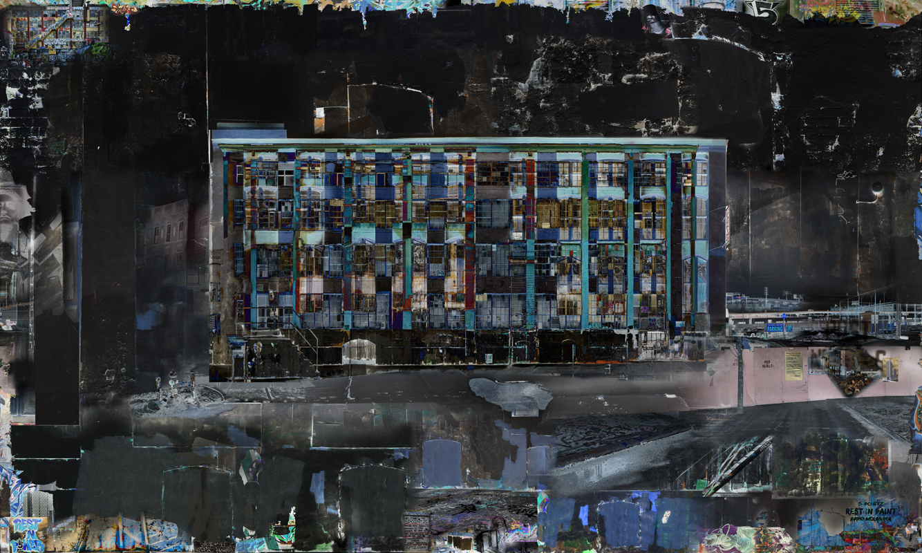 David Molander, 5 Pointz Rest in Paint, 2015, C-print diasec on optiwhite glass, 120 x 200 cm, edition of 3