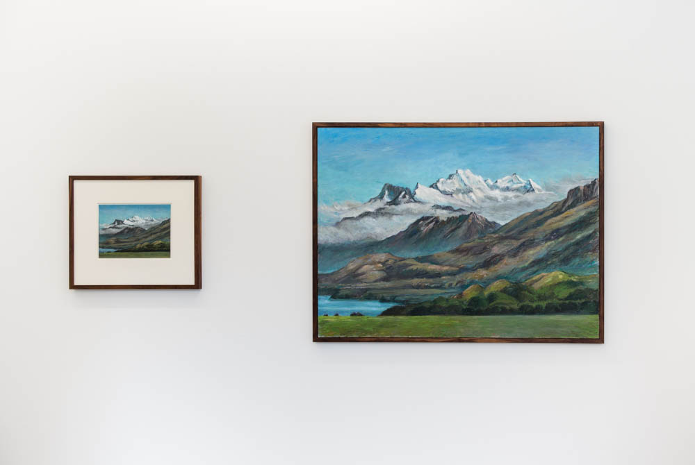 Untitled (NZME #6), 2014, pastel drawing, 49 x 56 cm, Untitled (NZME #6), 2014, oil on canvas, 90 x 120 cm