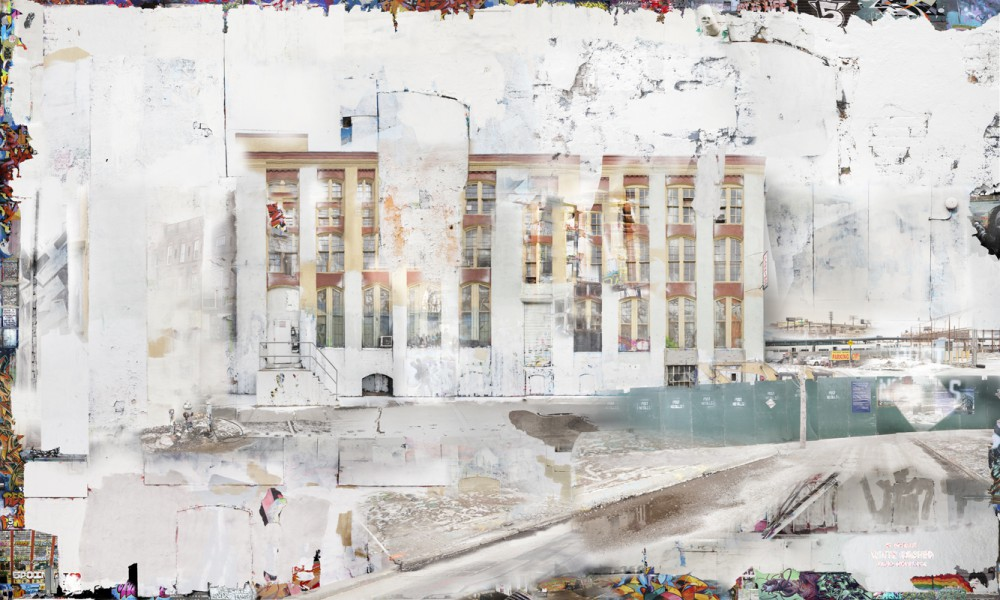 David Molander, 5 Pointz White Washed, 2015, C-print siliconemounted on optiwhite glass, 120 x 200 cm, edition of 3