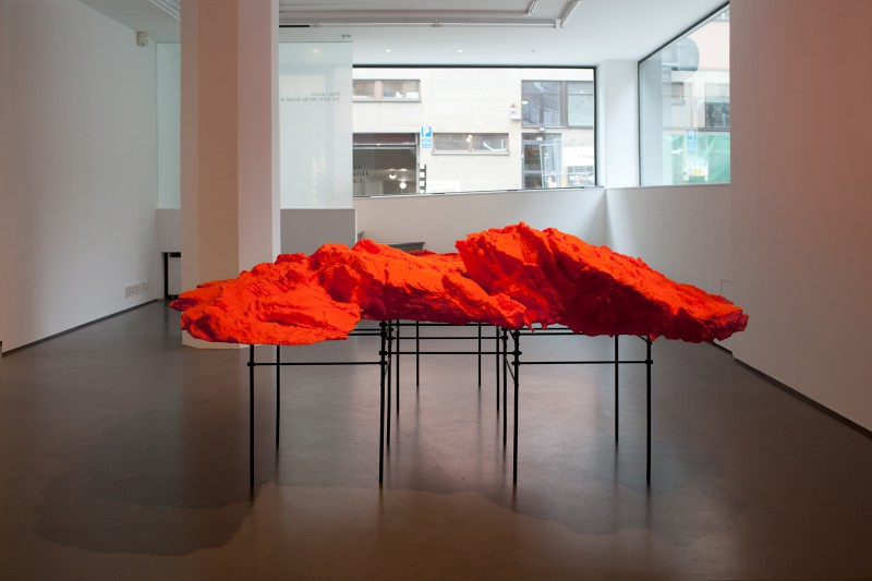 The Earth Will Be Buried at Sea, Installation view