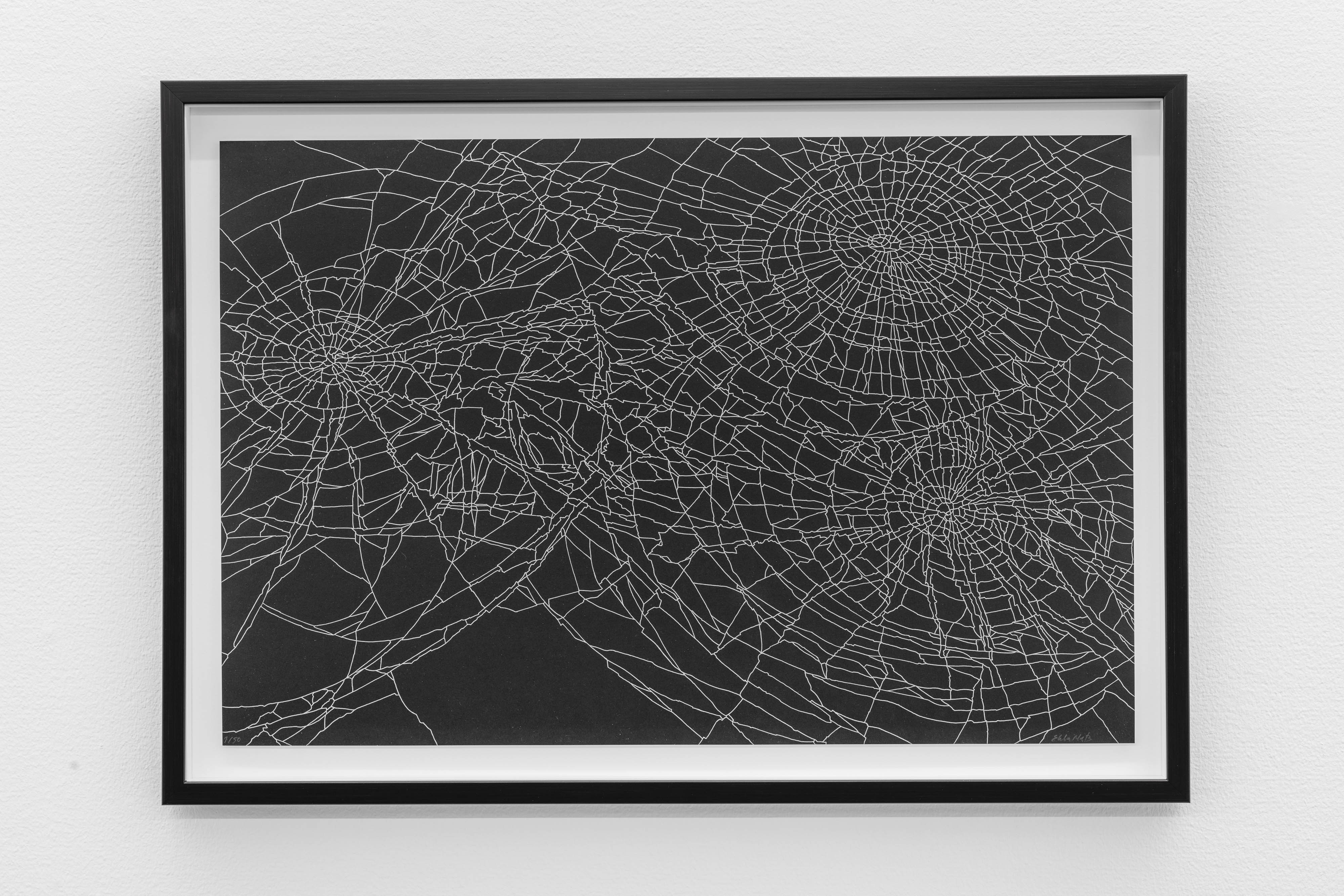 Ebba Matz, Möte, 2017, lithography, sheet size 60 x 39,5 cm, (67,5 x 47,5 cm with frame), edition 50