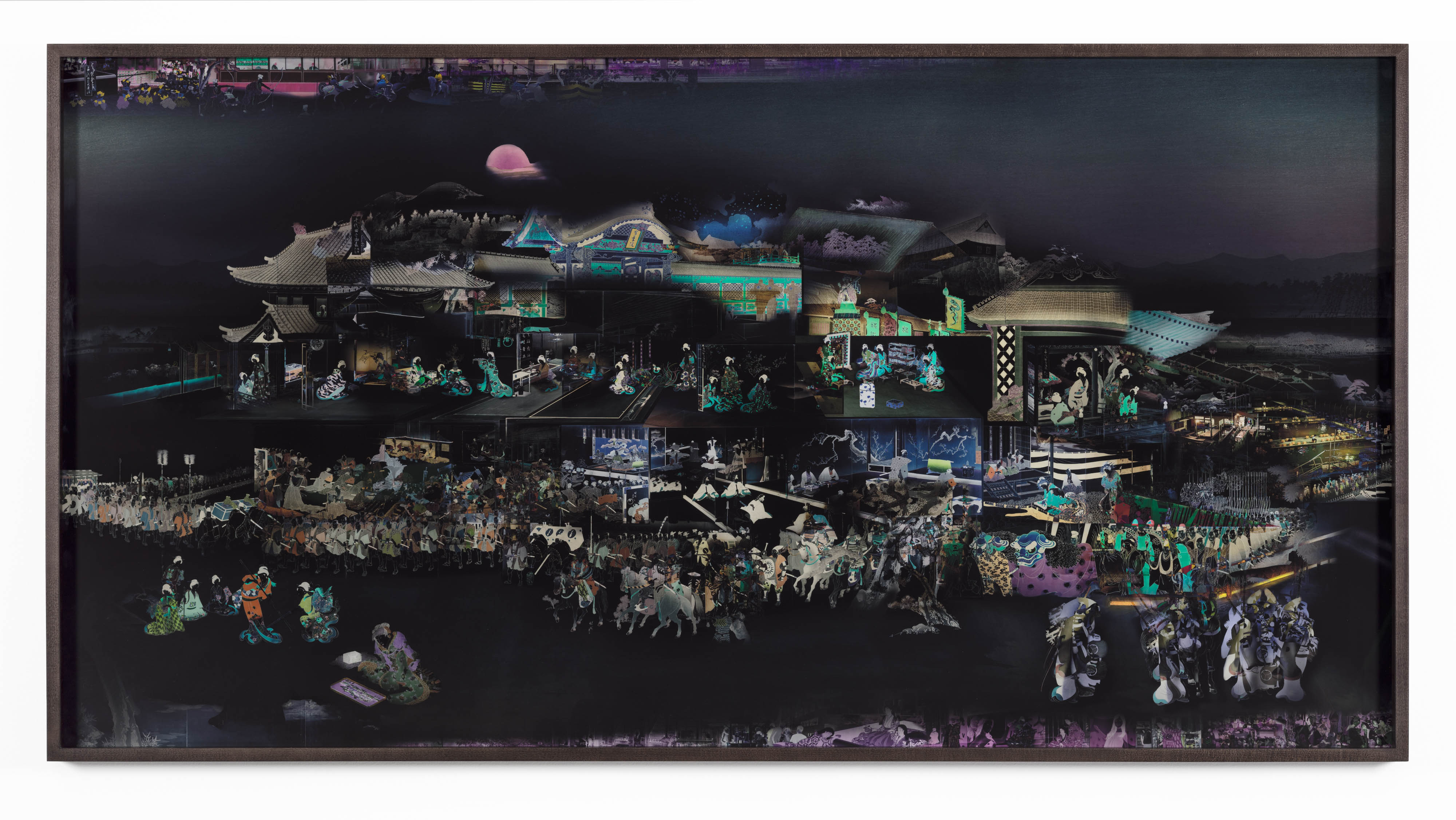 David Molander, Inre yttre palats I, 2017 Inkjet print, museum glass, oak frame 107 x 203 cm, edition of 5