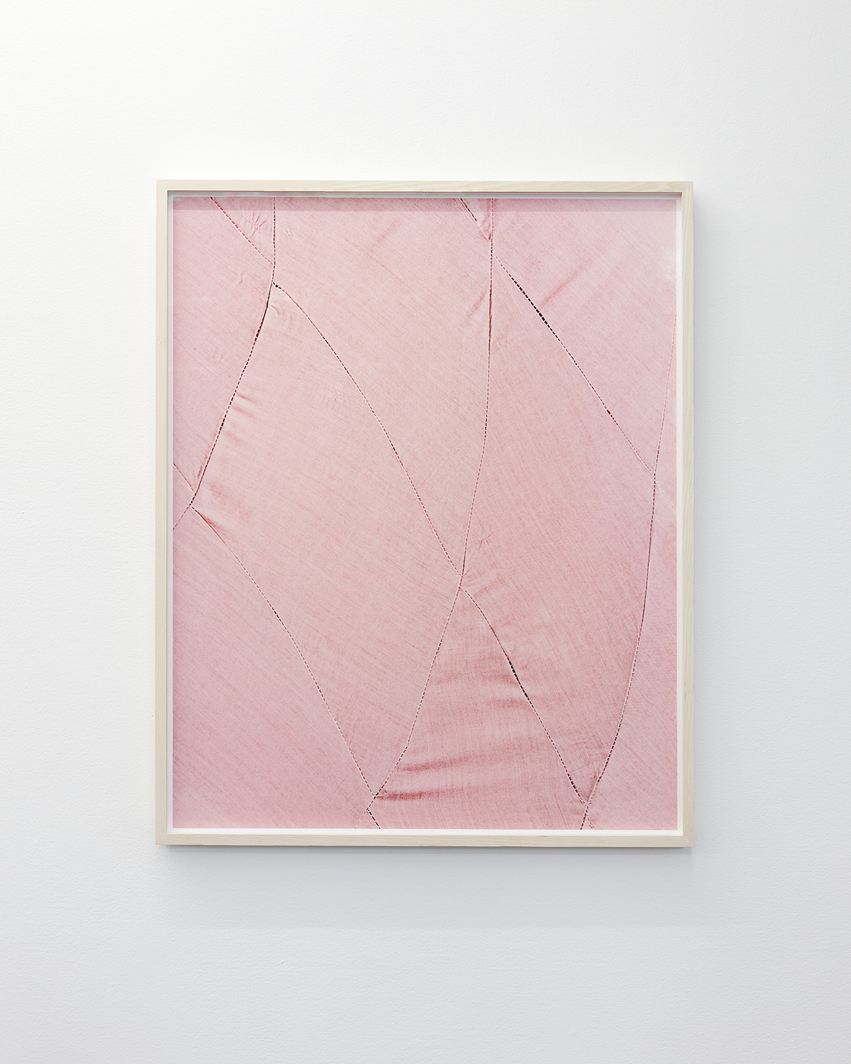 Linda Hofvander, Suggested Shape (pink), 2019, Inkjet print, museum glass, whitewashed frame, 92 x 75 cm, edition of 5