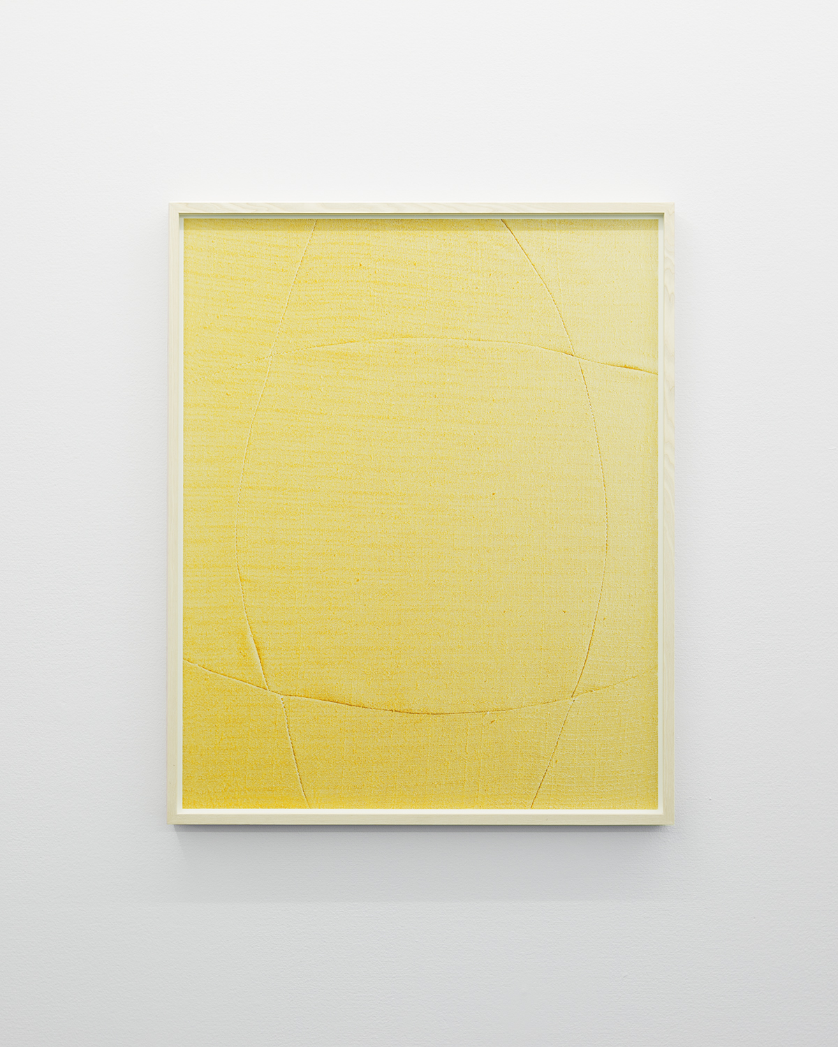 Linda Hofvander, Suggested Shape (yellow), 2019, Inkjet print, museum glass, whitewashed frame, 92 x 75 cm, edition of 5